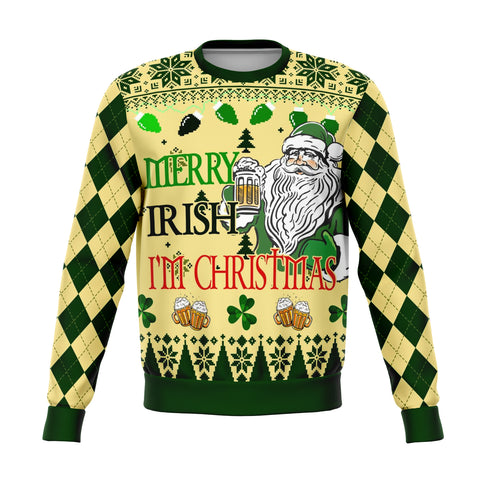 Hello Irish I'm Christmas Sweatshirt | 1sttheworld