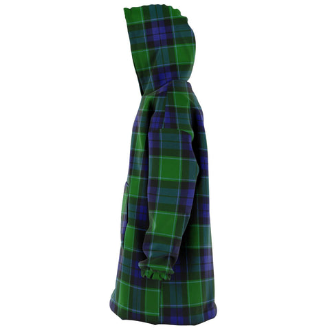 Image of Graham of Menteith Modern Snug Hoodie - Unisex Tartan Plaid Left