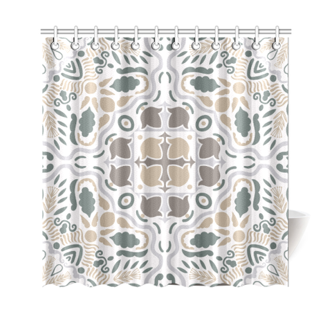 Image of Portugal Shower Curtain - Azulejos Pattern 05
