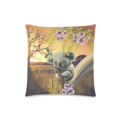 Image of Australia Pillow Covers - Koala Mimosa H5