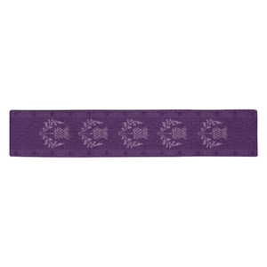 Scotland Table Runner - Purple Thistle A9
