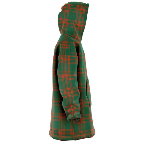Image of Menzies Green Ancient Snug Hoodie - Unisex Tartan Plaid Right