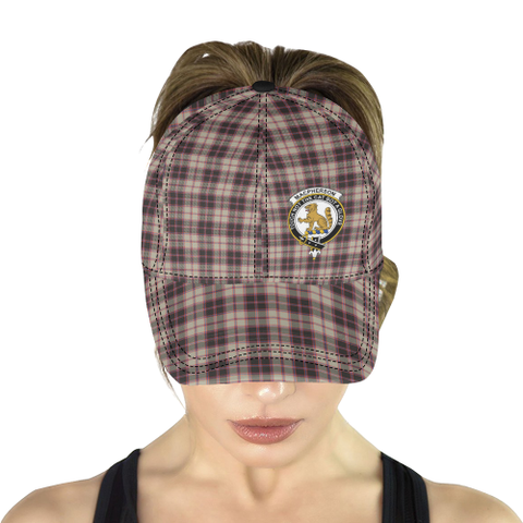 Image of MacPherson Hunting Ancient Clan Badge Tartan Dad Cap - BN04