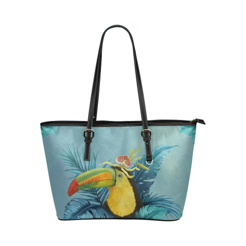 Belize Leather Tote Bag - Belizean Toucan Bag H4