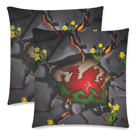 Wales Pillow Cases - Welsh Dragon Daffodil Lava | Love The World
