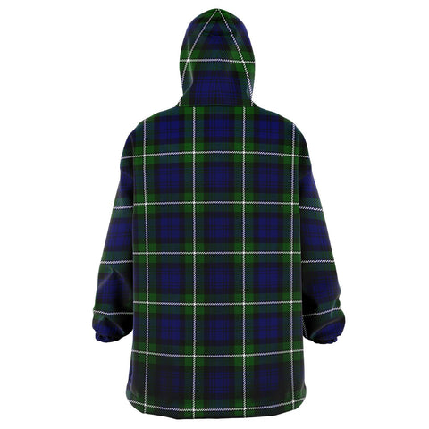 Image of Forbes Modern Snug Hoodie - Unisex Tartan Plaid Back