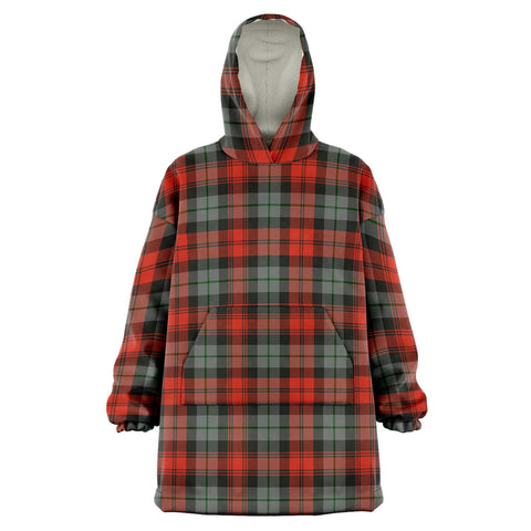 Image of MacLachlan Weathered Snug Hoodie - Unisex Tartan Plaid Front
