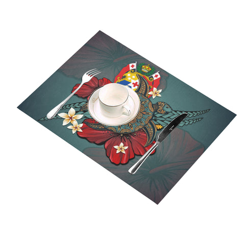Tonga Placemat - Blue Turtle Tribal A02