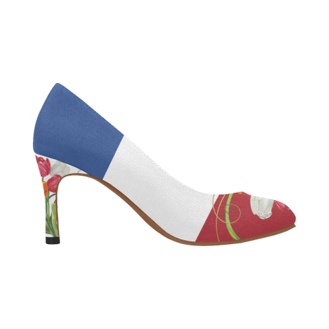 Netherlands High Heel - Tulip On Flag A1 |Footwear| 1sttheworld