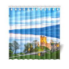 Scotland Shower Curtain - Loch Ness And Urquhart Castle A6