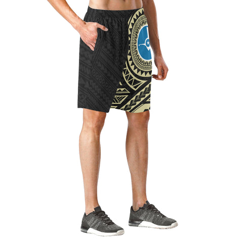 Yap Polynesian Beach Shorts Yellow | Micronesia