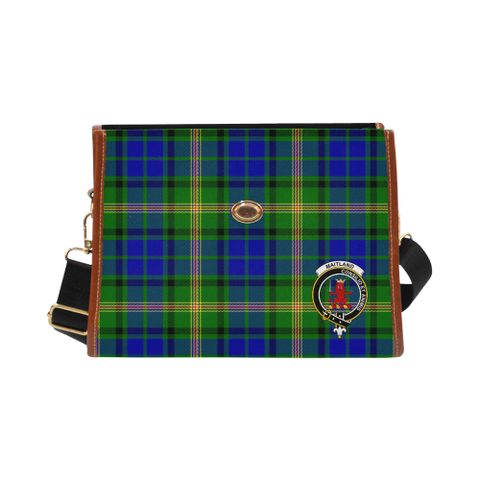 Tartan Canvas Bag - Maitland Clan | Waterproof Bag | Scottish Bag