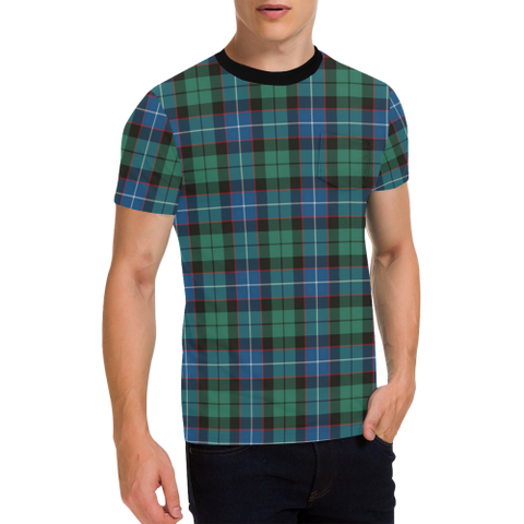 Hunter Ancient Tartan T-Shirt | Scottish Pocket Tees | Men & Women Clothing
