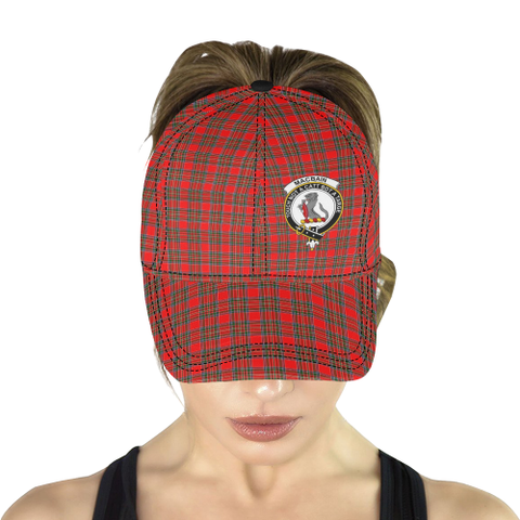 Image of MacBain (MacBean Modern) Clan Badge Tartan Dad Cap - BN04