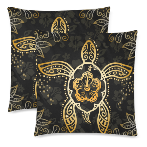 Hawaii Hibiscus Turtle Pillow Cover