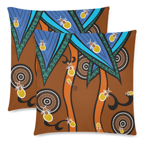 Image of Australia Aboriginal Ants Pillow Covers NN9