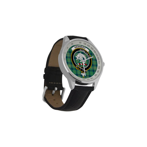 Image of Kennedy Ancient Tartan Leather Strap Analog Watch - BN03