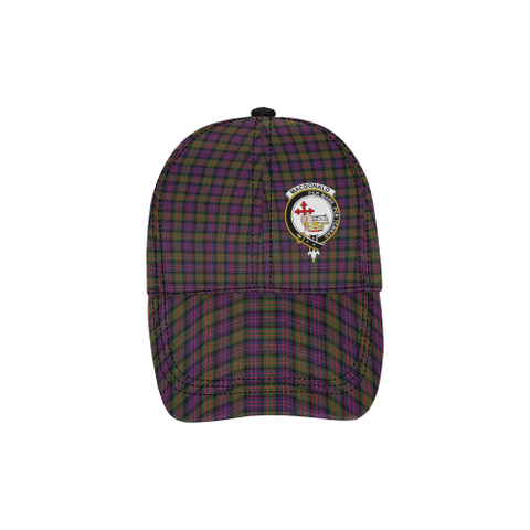 Image of MacDonald (Clan Donald) MacDonald Modern Clan Badge Tartan Dad Cap - BN04