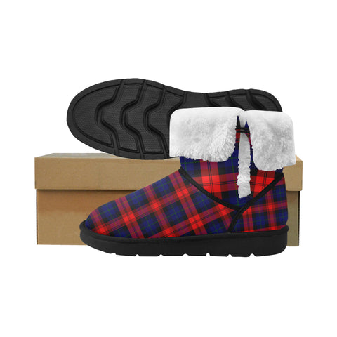 Maclachlan Modern Tartan Button Snow Boots For Women/Men K7
