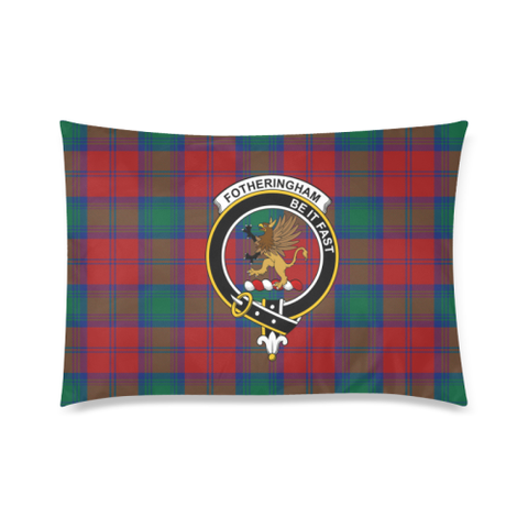 Fotheringham Tartan Clan Badge Rectangle Pillow Cover HJ4