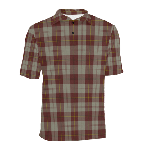 Image of Cunningham Burgundy Dancers  Tartan Polo Shirt HJ4