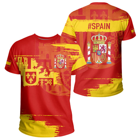 Image of Spain T-shirt - Sport Ver | Clothing | 1sttheworld
