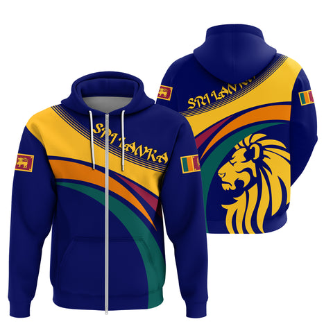 Image of 1sttheworld Sri Lanka Lion Zip Hoodie
