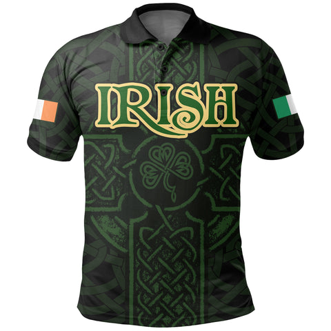 Ireland Men's Polo Shirt - Irish Celtic Cross | Clothing
