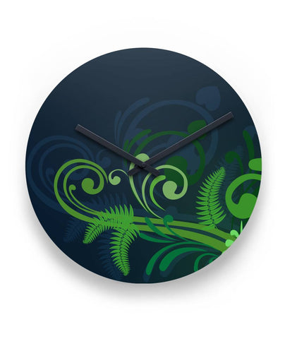 "Special Edition of New Zealand Fern - Fern 11"" Round Wall Clock"
