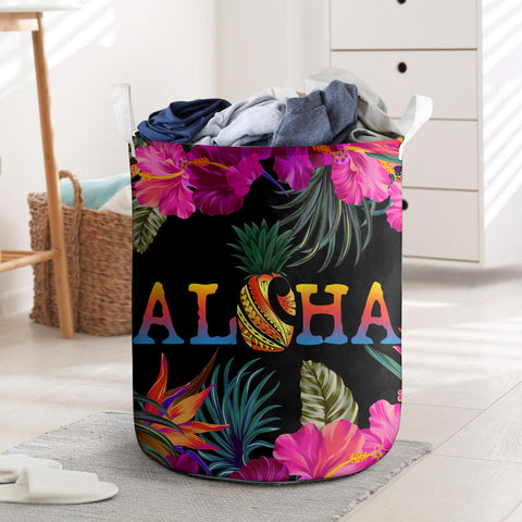 Kanaka Maoli (Hawaiian) Laundry Basket - Tropical Flower Hibiscus | Love The World