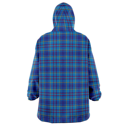Mercer Modern Snug Hoodie - Unisex Tartan Plaid Back
