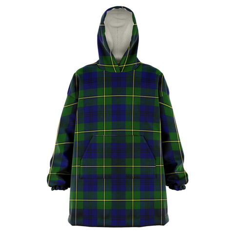 Johnston Modern Snug Hoodie - Unisex Tartan Plaid Front