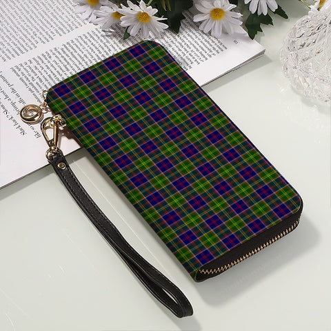 Image of AYRSHIRE DISTRICT TARTAN ZIPPER WALLET HJ4