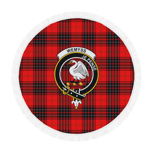 WEMYSS MODERN CLAN BADGE TARTAN BEACH BLANKET th8
