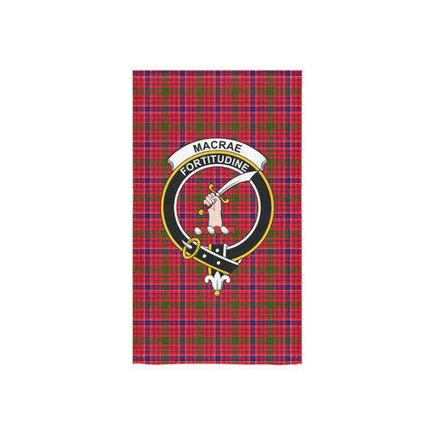 MacRae Modern Tartan Towel Clan Badge NN5