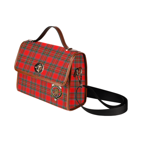Image of Tartan Canvas Bag - Binning (of Wallifoord) Clan | Waterproof Bag | Scottish Bag