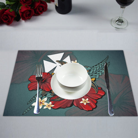 Wallis and Futuna Placemat - Blue Turtle Tribal A02