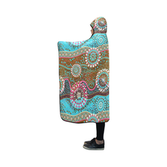 Australia Aboriginal 02 Hooded Blanket H7