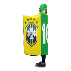 Brasil World Cup Hooded Blanket Number 10  - BN