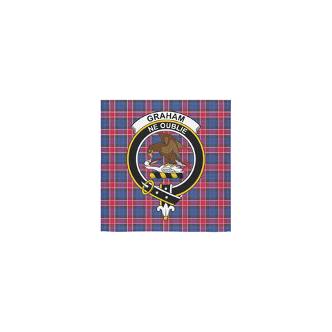 Image of Graham of Menteith Red Tartan Towel Clan Badge | 1sttheworld.com