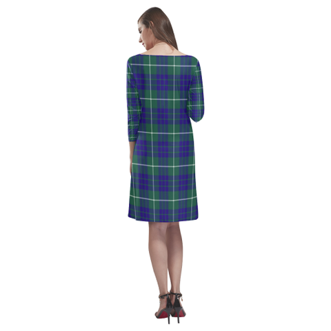 Tartan dresses - Hamilton Hunting Modern Tartan Dress - Round Neck Dress - BN