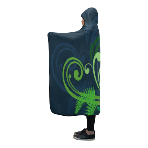 New Zealand Fern Hooded Blanket A9
