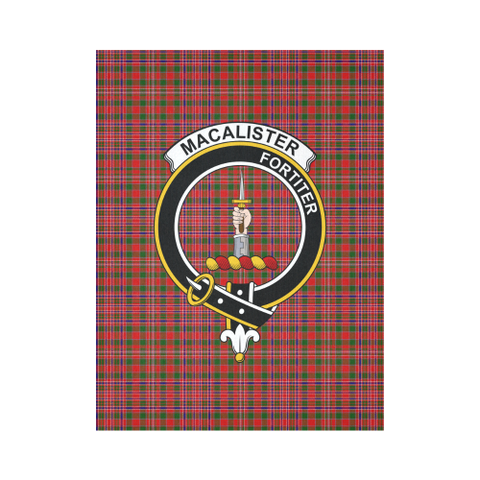 Image of Macalister Modern Tartan Tapestry Clan Badge K9