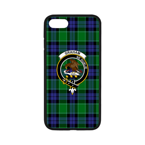 Graham Of Menteith Tartan Clan Badge Rubber Phone Case HJ4