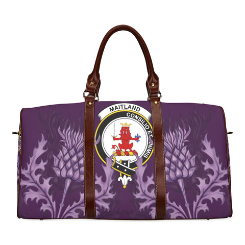 Maitland Crest Scottish Thistle Scotland Travel Bag | Over 300 Clans