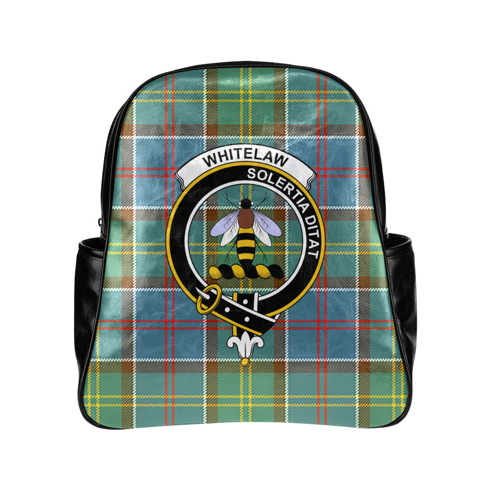 Whitelaw District Tartan Clan Badge Multi Pockets Backpack