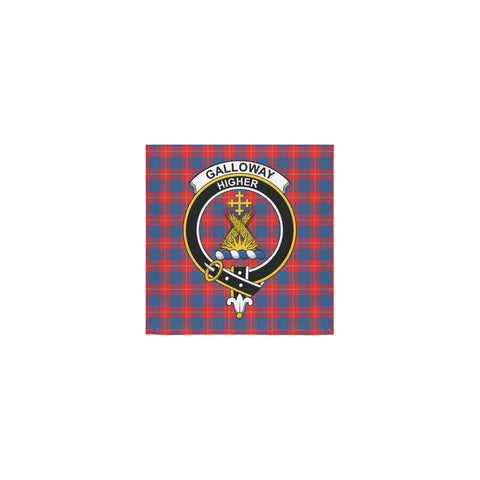 Galloway Red Tartan Towel Clan Badge | 1sttheworld.com