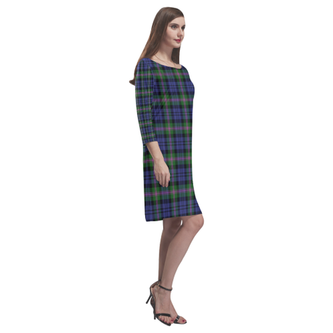 Tartan dresses - Baird Modern Tartan Dress - Round Neck Dress NN5