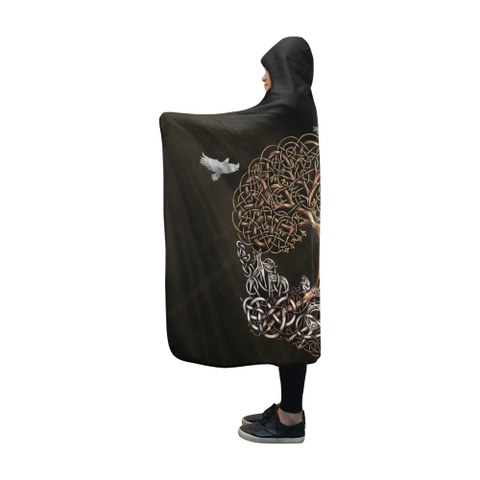 Viking Hooded Blanket - Viking Tree of life Yggdrasil | HOT Sale