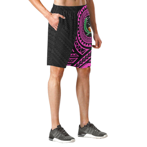 Image of Pohnpei Polynesian Pink Beach Shorts | Polynesian Clothings